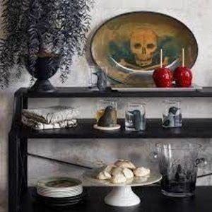John Derian Skull & Bones Melamine Serving Platter